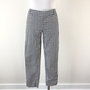 White House Black market 2 Black Check Plaid Pants